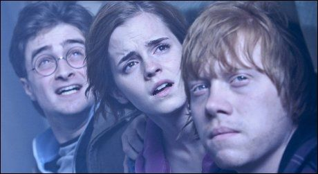 POTTER-TRIO: Daniel Radcliffe, Emma Watson og Rupert Grint. Foto: WENN