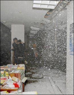 HARDT RAMMET: Her rammer jordskjelvet i Sendai, som er den storbyen i Japan som ligger nærmest jordskjelvets episenter. Foto: Ap