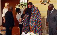 Kronprinsen fikk være konge i Ghana