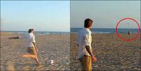 Se Beckham prikke inn langpasninger på stranden