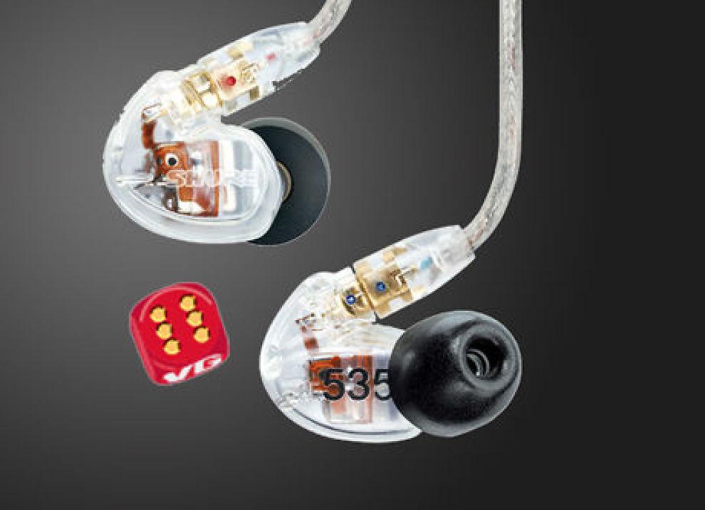 Shure SE-535 ørepropper har fantastisk god lyd, men kun de færreste blant oss er villige til å bruke så mye penger på et par ørepropper som disse koster. Foto: Produsenten