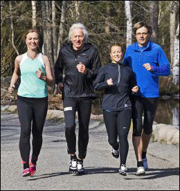 TETSTERNE: f.v. Anne Lise von der Fehr, Eystein Enoksen, Lene Alexandra Øien og Egil Svendsby. Foto: FRODE HANSEN