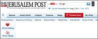 Jerusalem Post beklager «AUF+terror»-utspill
