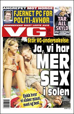 Les mer om angrepet mot Norge i dagens papirutgave av VG! Faksimile: VG, 7. august 2011 Foto: