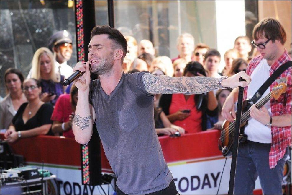 IKKE FORNØYD: Adam Levine og Maroon 5 har solgt nærmere 15 millioner album på verdensbasis, og har vunnet tre Grammy-priser. Foto: AP