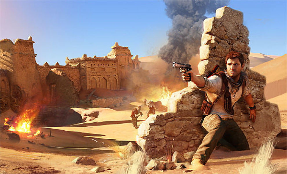 NYE EVENTYR: Nathan Drake er klar for nye eventyr i «Uncharted 3». Foto: NAUGHTY DOG/SONY