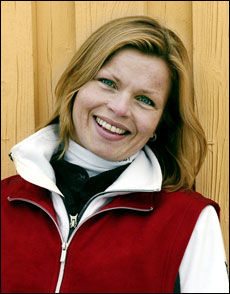 Fysioterapeut Jill Jahrmann. Foto: Espen Hoen