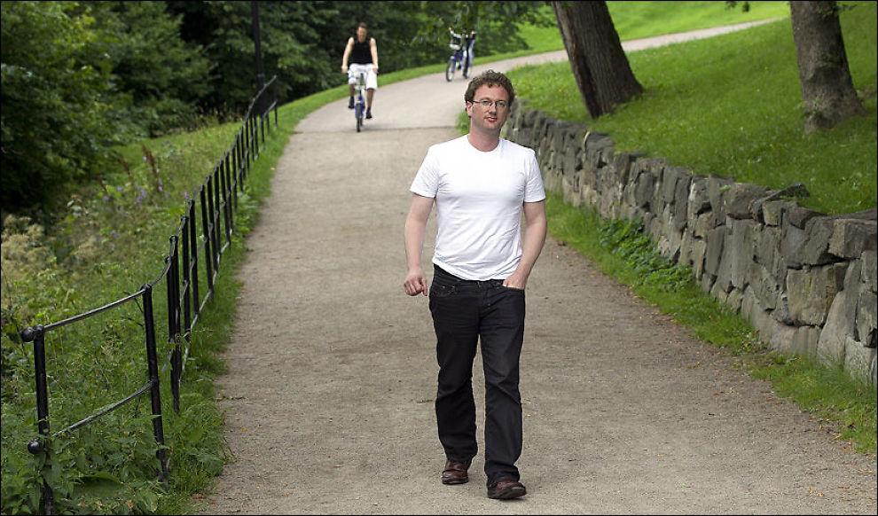 STO FREM: Siden 2005 har Peder Jensen fra Ålesund blogget anti-islamistisk under pseudonymet «Fjordman». I august sto han frem i VG. Foto: MAGNAR KIRKNES / VG