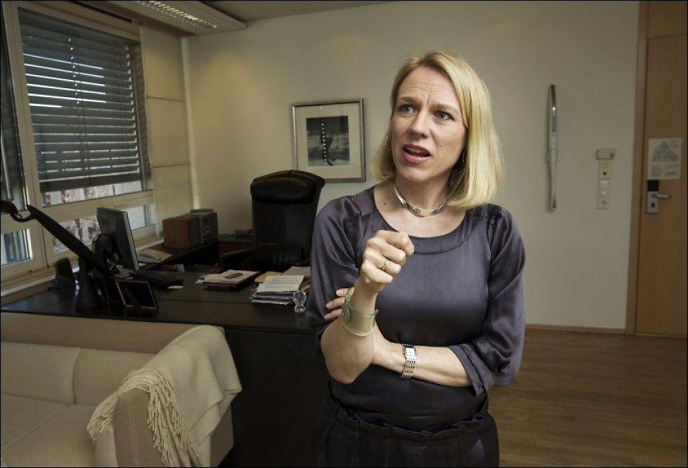 ENGASJERT: Loven åpner for at informasjonen på Nettby kan bevares, mener Anniken Huitfeldt. Foto: Frode Hansen/VG