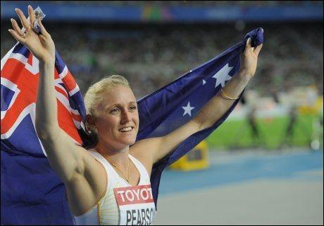 VERDENSMESTER: Sally Pearson ble verdensmester på 100 meter hekk i VM i Daegu. Foto: Afp