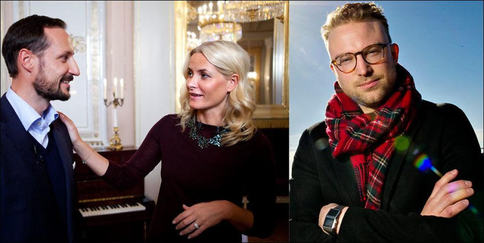 KRITISK: Erik Lundesgaard (t.h) mener kronprinsparet må fokusere mer på hjertesaker i Norge. Foto: Terje Bringedal/Eivind Griffith Brænde/VG