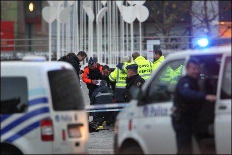 TRAGEDIE: Den antatte angrepsmannen skal ha tatt livet av fire personer, inkludert seg selv i Liege i ettermiddag. Foto: Reuters
