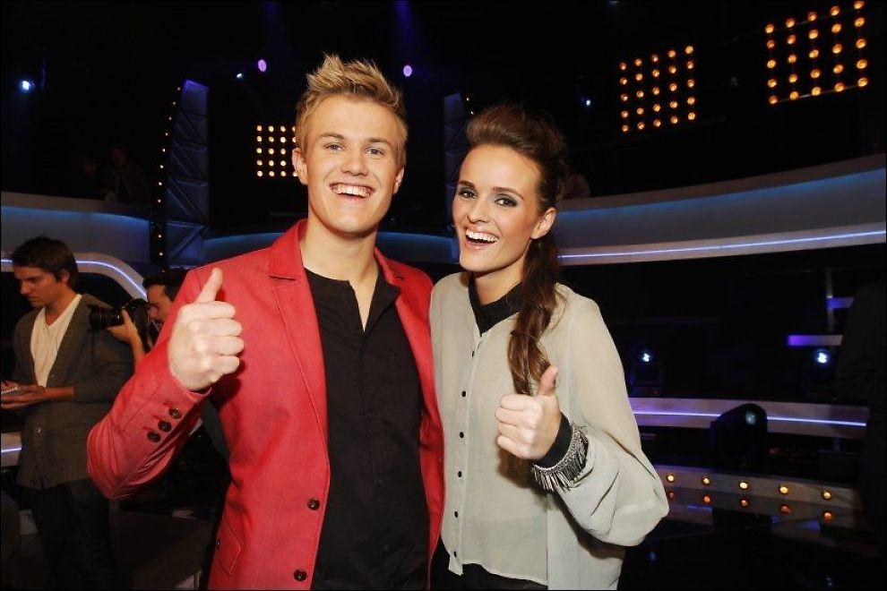 FINALISTER: Vegard Leite og Jenny Langlo kjemper om seieren i «Idol». Vinnerlåten får derimot laber mottakelse. Foto: Frode Hansen/VG