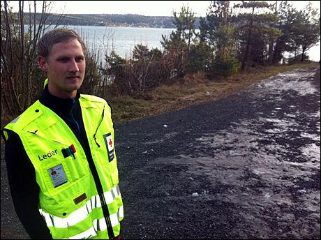LEDER: Andreas Brosø, operativ leder for Hurum Røde Kors hjelpekorps, ledet leteaksjonen etter 38-åringen. Foto: ROAR DALMO MOLTUBAK/VG