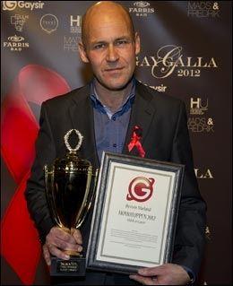 HOMOTOPP: Øystein Mæland ble kåret til Årets Homotopp. Foto: Simen Øvergaard /Gaygalla2012