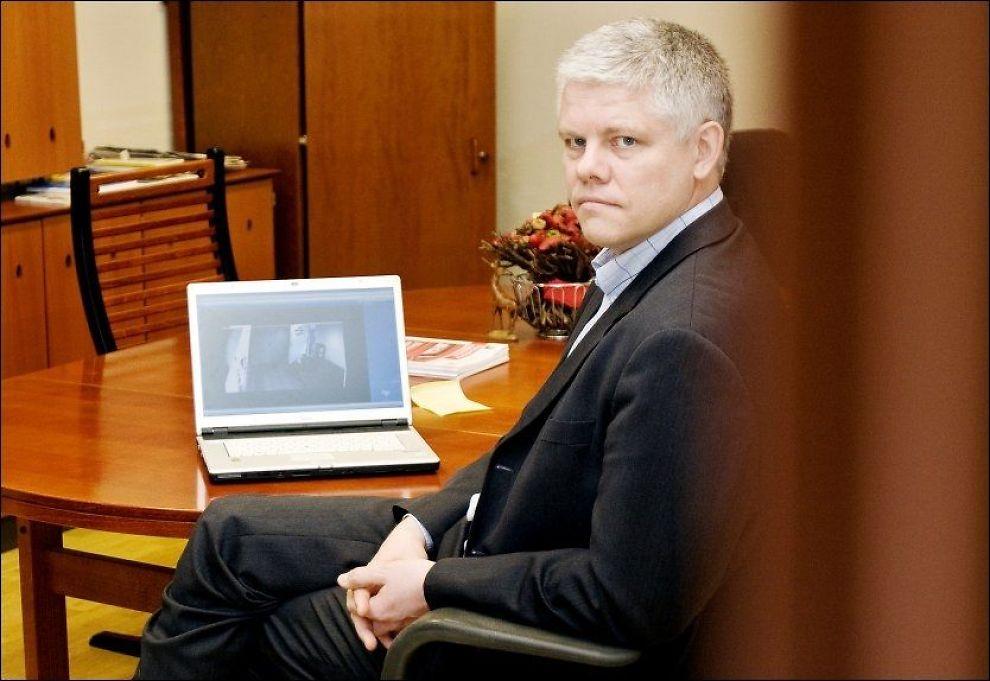 KRITISK: Ove Skåra hos Datatilsynet frykter at en slik database kan misbrukes av kriminelle. Foto: Scanpix