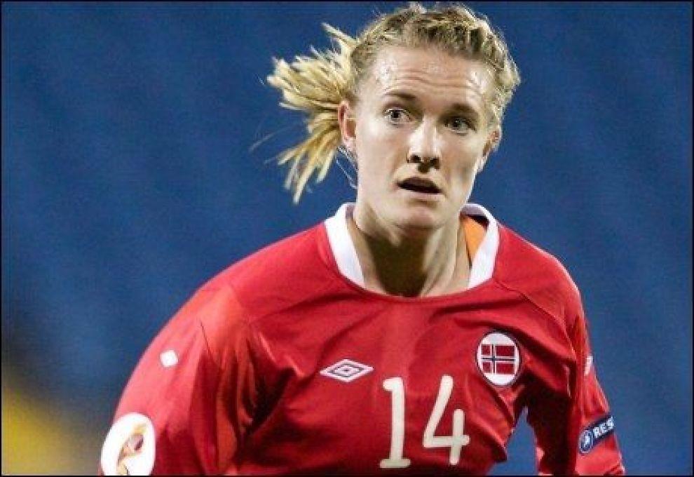 TAPTE: Gry Tofte Ims og de norske fotballjentene tapte 0-2 mot Sverige på La Manga tirsdag. Foto: Scanpix