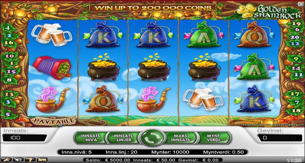 POPULÆRT: Spilleautomater på nett er svært populært i Norge. Ifølge Lotteritilsynet spilte nordmenn for rundt fem milliarder kroner i 2011. Foto: Skjermdump
