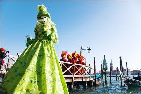 FEST I FEBRUAR: I år arrangeres det legendariske karnevalet i venezia fra 11.-21. februar. Foto: KARIN BEATE NØSTERUD.