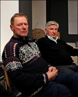 HOPPUKE-VINNERE: I 2007 samlet VG tidligere hoppuke-vinnere. Her sitter Ingolf Mork (t.v.) og Bjørn Wirkola. Foto: Bjørn S. Delebekk, VG