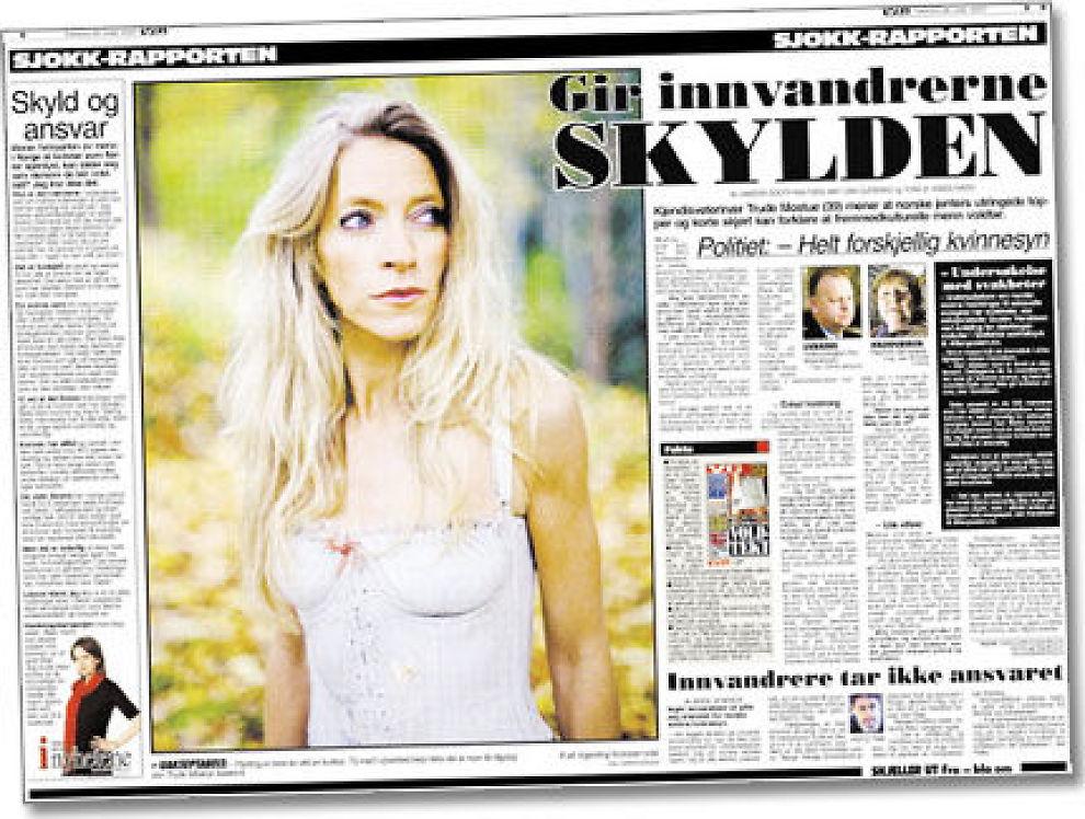 UTLENDINGER: Kvinnesynet til utenlandske voldtektsmenn har vært heftig debattert også i VG i vinter. Dette oppslaget er fra 2007. Faksimile.