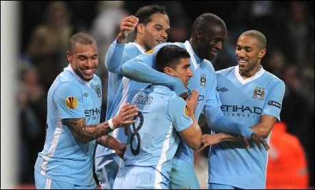 FULL KONTROLL: Manchester City gikk enkelt videre i Europa League. Foto: Pa Photos