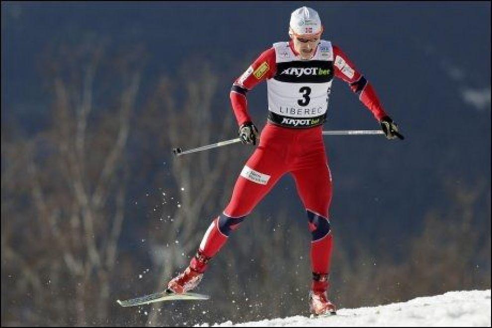 BESTE NORDMANN: Håvard Klemetsen ble beste nordmann med femteplass i søndagens verdenscuprenn i kombinert. Foto: David W. Cerny