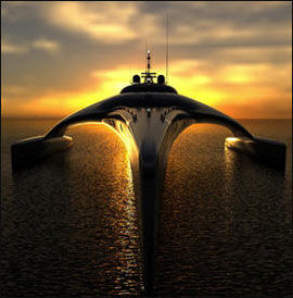 LANGTREKKENDE: Med full tank klarer båten hele 6500 kilometer. Foto: Produsent