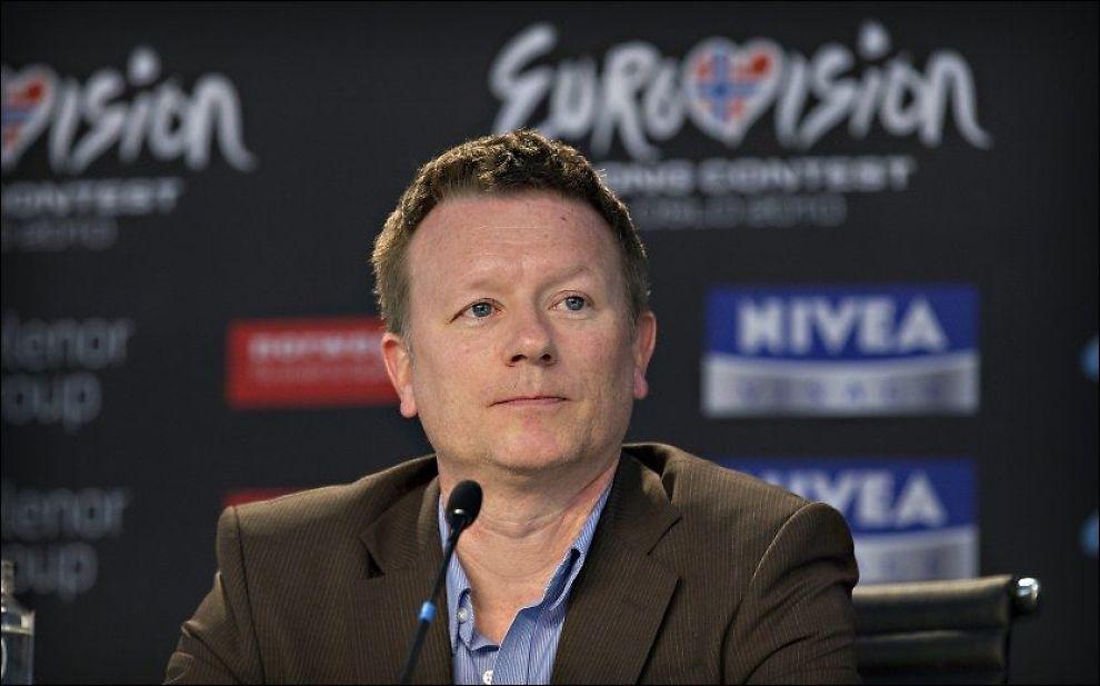 SKUFFET: Den norske Eurovision-sjefen Jon Ola Sand, her på et bilde fra MGP-arrangementete i Telenor Arena i 2010, mottok Armenias beslutning med skuffelse. Foto: MATTIS SANDBLAD