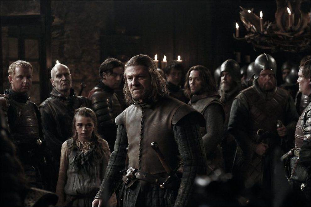VOLDELIG: Sean Bean, kjent fra «Ringenes Herre», spiller hovedrollen i første sesong av «Game of Thrones». Foto: HBO