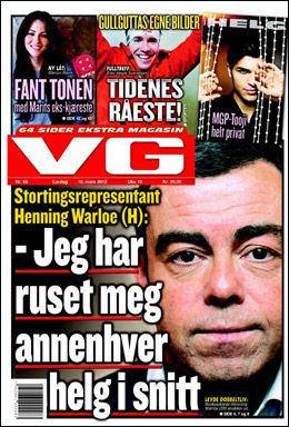 LES MER: I dagens papirutgave av VG. Foto: Faksimile