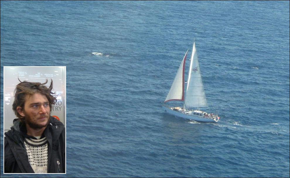 MÅ REPARERE BÅTEN: Jarle Andhøy (innfelt) og mannskapet om bord Nilaya må innom Antarktishalvøya for å fikse båten. Foto: NEZEALANDSKE MYNDIGHETER, JON MAGNUS / VG