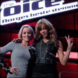 Hanne Sørvaag with Shontelle Layne. Photo: TV2
