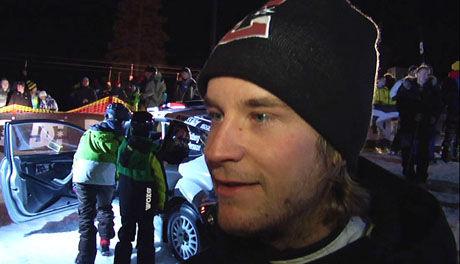 LAGET SHOW: Mads Østberg laget rallyshow i alpinbakken i Trysil. Foto: Cyclone/SkiStar Trysil