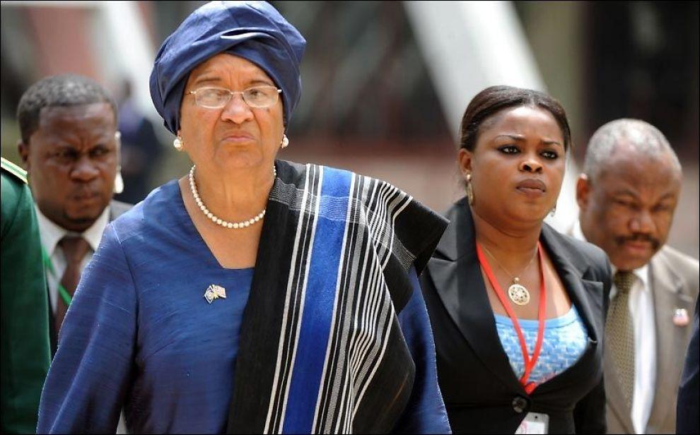 HOMO-SKEPTIKER: Ellen Johnson Sirleaf vil ikke åpne opp for en homofrigjøring i Liberia, til tross for at hun i fjor mottok Nobels fredspris. Foto: AFP