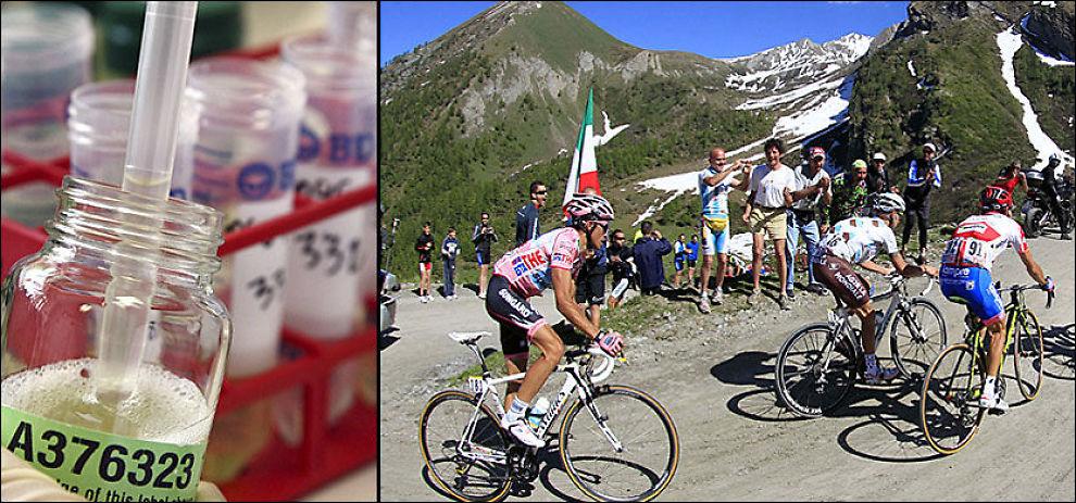 BRUKER ENKELTE RYTTERE NYTT DOPINGMIDDEL? Stadig flere tror at AICAR benyttes av jukserne innen sykkelsporten. Det finnes foreløpig ingen test mot stoffet. Foto: AFP og AP