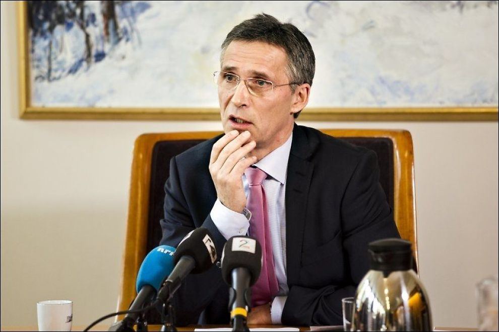 STOLER PÅ: Stoltenberg svarte i Stortinget onsdag på spørsmål fra pressen om Jonas Gahr Støres habilitet. Foto: FRODE HANSEN/VG