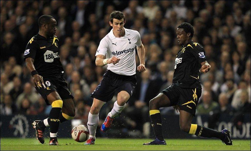 SCORET IGJEN: Gareth Bale satte inn sitt første mål siden slutten av januar da Tottenham tok seg til semifinale i FA-cupen. Foto: PA Photos