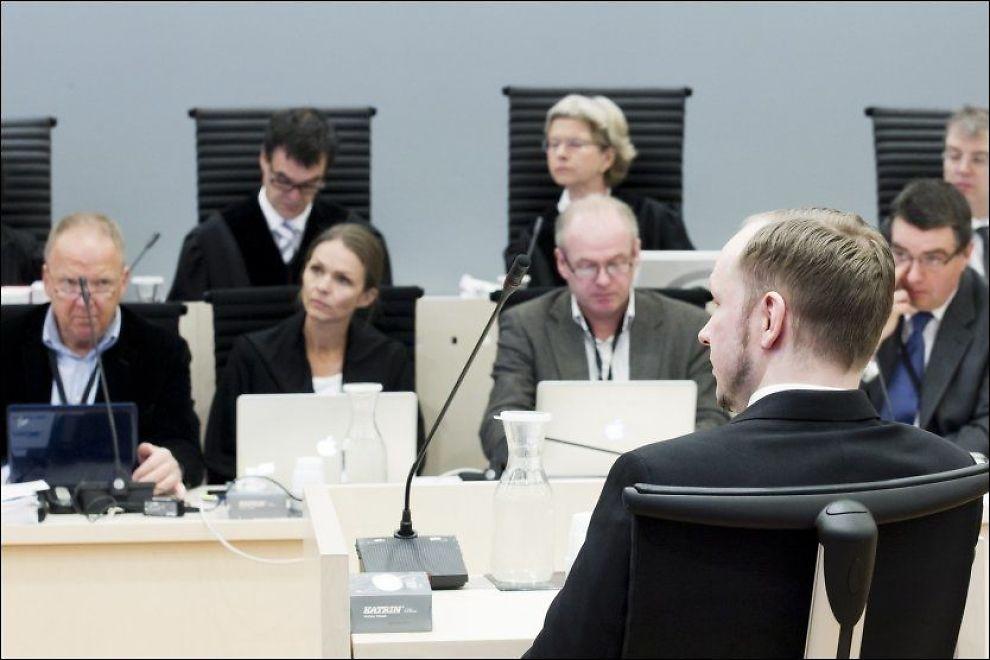 I RETTEN: Anders Behring Breivik kjempet onsdag i retten for sin egen tilregnelighet. Foto: NTB SCANPIX