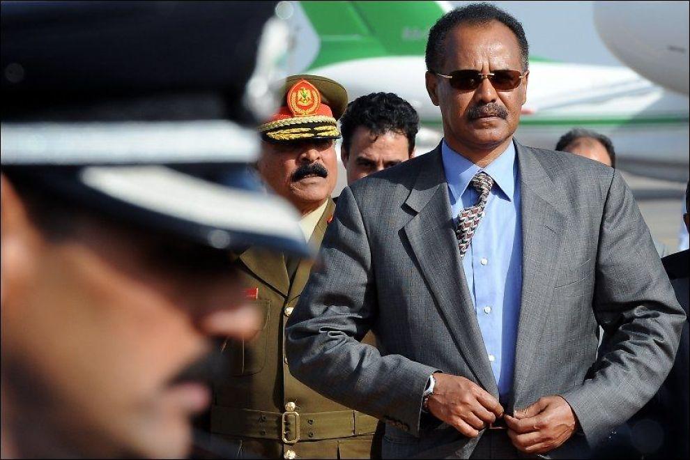 DIKTATUR: Også eksil-eritreere frykter diktatoren Isaias Afwerki sitt harde styre. Foto: AP
