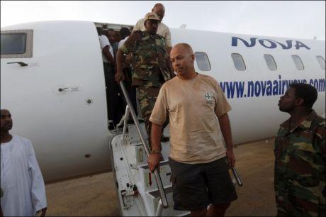 HOVEDSTADEN: John Sörbö ble fløyet til hovedstaden Khartoum i går. Foto: REUTERS