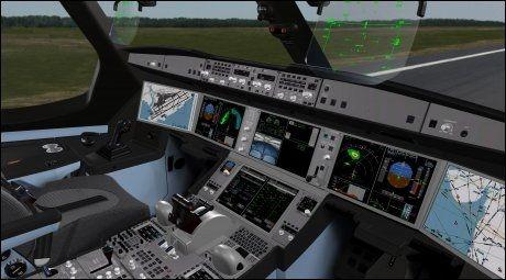 ALTERNATIVET: Slik ser «kontoret» ut på Airbus' hypermoderne A350 XWB. Foto: AIRBUS