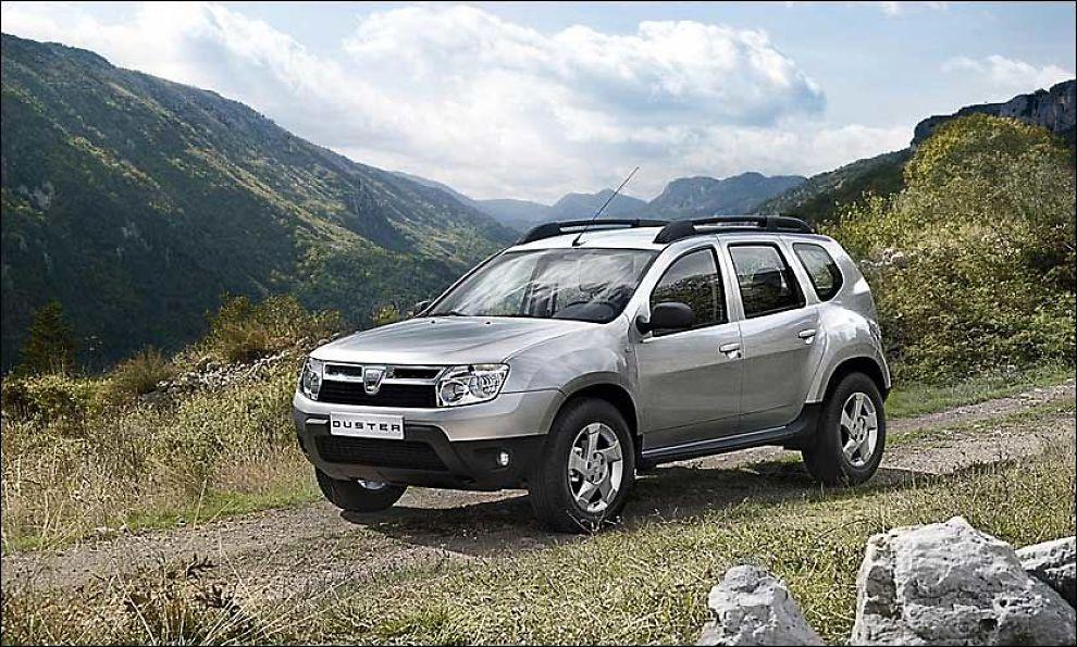 BILLIG-BÆRT: Den kompakte og rimelige SUV-en Dacia Duster er trolig klar for Norge. Foto: Produsent