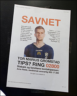 SAVNET: Disse plakatene har blitt hengt opp over hele Oslo denne helgen. Foto: Scanpix