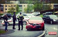Politibil krasjet under Breivik-transport