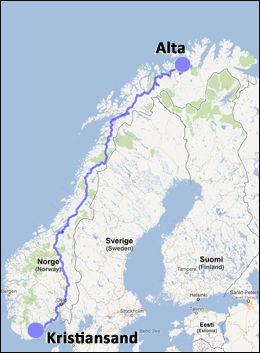 Grafikk: GoogleMaps / VG Nett