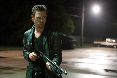 """DRAPSMANN: Brad Pitt spiller en gangster som liker å drepe """"mykt"""" i Andrew Dominiks film """"Killing Them Softly"""". Foto: NORSK FILMDISTRIBUSJON"""