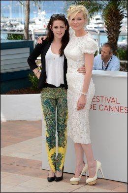"""CANNES-KLARE: Stewart og Kirsten Dunst presenterte """"On the Road"""" i Cannes onsdag. De spiller to av Neal Cassadys koner. Foto: PA"""