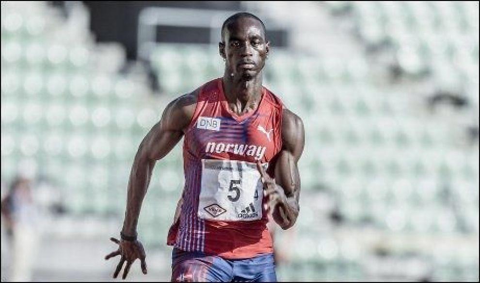 NUMMER FEM: Jaysuma Saidy Ndure ble nummer fem på 200-meteren under Diamond League-stevne i USA lørdag. Her under en treningssamling på Bislett. Foto: Krister Sørbø, NTB Scanpix