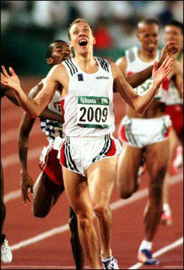 ROSER BLADE RUNNER: Vebjørn Rodal, som her vinner sitt OL-gull i 1996. Foto: NTB Scanpix